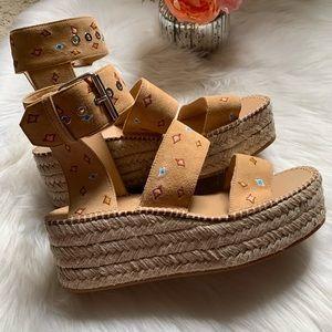 Rag & Bone boho espadrille platform shoes, size 40